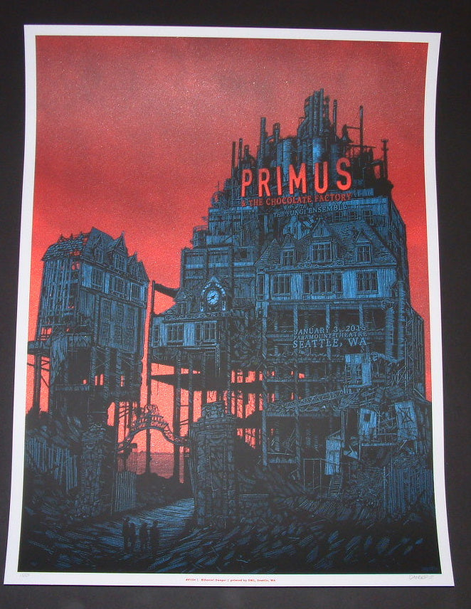Daniel Danger Primus Poster Seattle Red Metallic Variant 2015