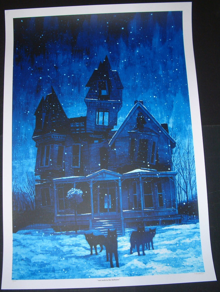 Daniel Danger Wet Teeth in the Darkness Art Print 2011 S/N