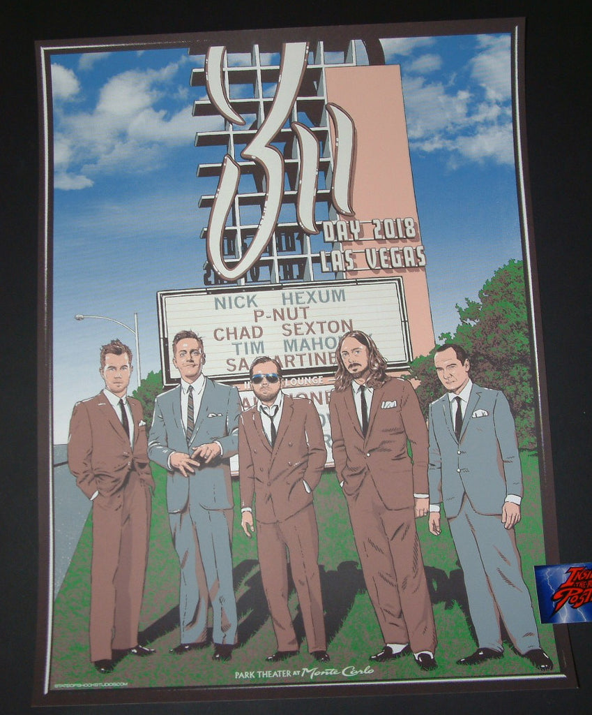 Darin Shock 311 Day Poster Las Vegas 2018 Artist Edition Glow In The Dark