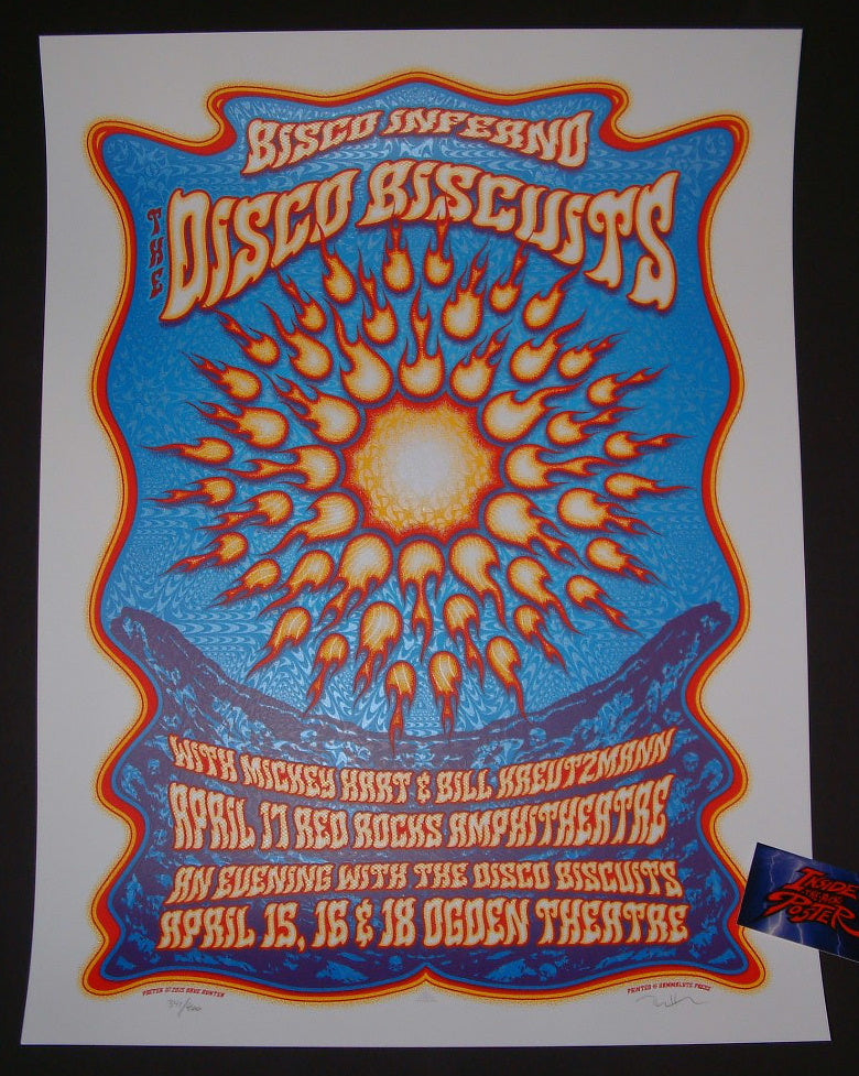 Dave Hunter Disco Biscuits Bisco Inferno Red Rocks Denver Poster 2015 Artist Edition