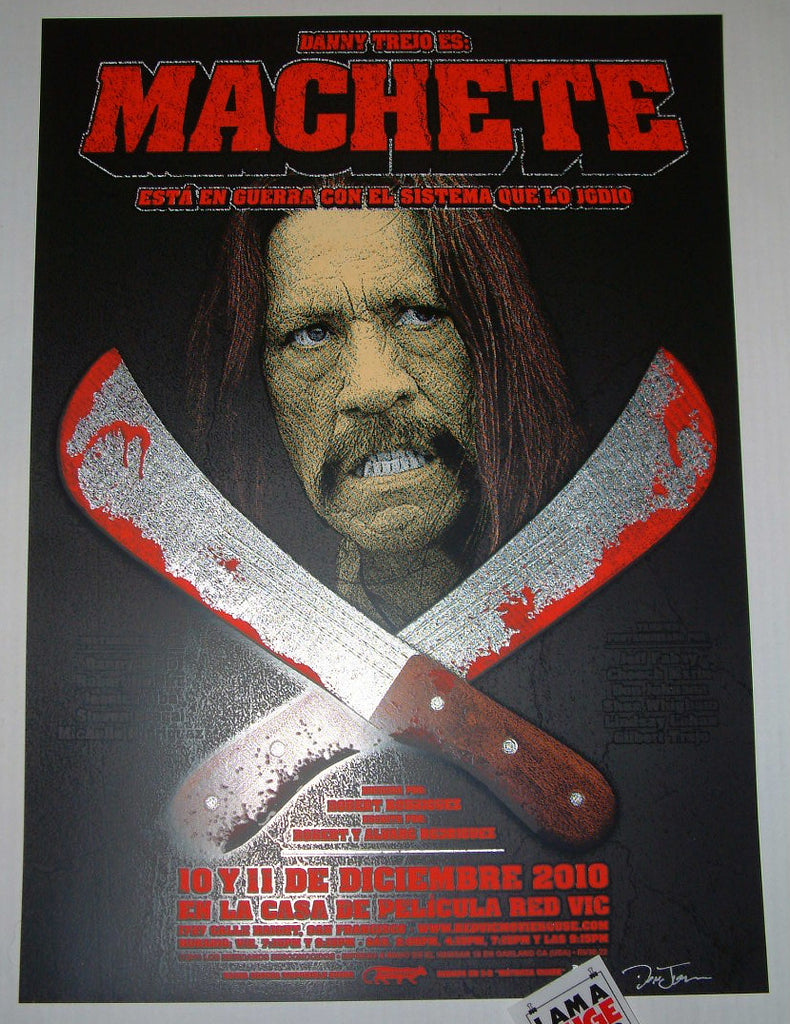 Dave Hunter Machete Movie Poster 2011 S/N Los Mexicanos Desconocidos