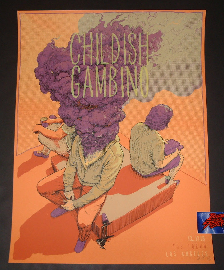 Dave Kloc Childish Gambino Los Angeles Poster Artist Edition 2018 Night Two