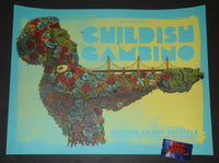 Dave Kloc Childish Gambino San Francisco Poster Artist Edition Blue Variant 2019