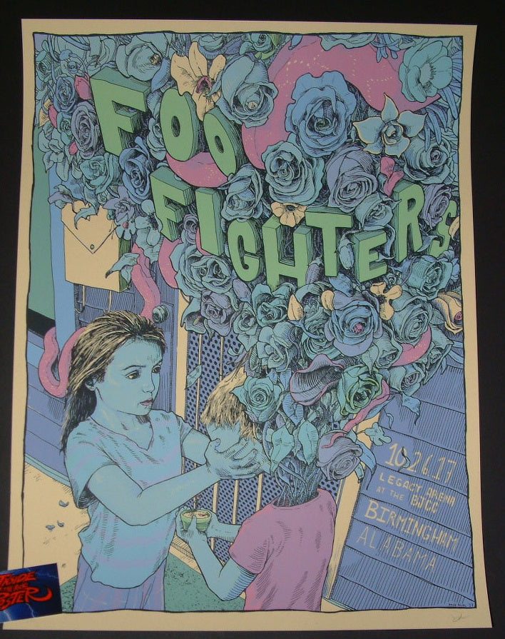 Dave Kloc Foo Fighters Poster Birmingham 2017 Artist Edition
