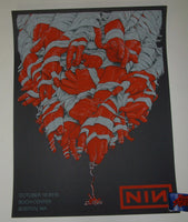 Dave Kloc Nine Inch Nails Poster Boston 2018 Artist Edition