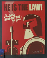 Dave Perillo Judge Dredd He is the Law Poster 2013