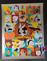 Dave Perillo Looney Tunes Poster Foil Variant 2019