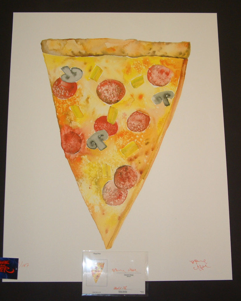 David Choe Pizza Slice Loaded Art Print 2013 COA