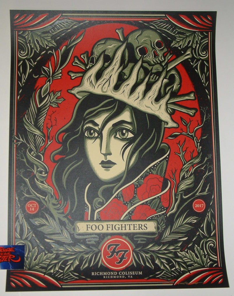 Dave Quiggle Foo Fighters Poster Richmond 2017 Artist Edition