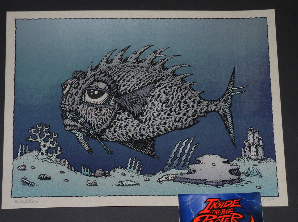 David Welker Lonious Monk Fish Art Print Silver Variant 2017