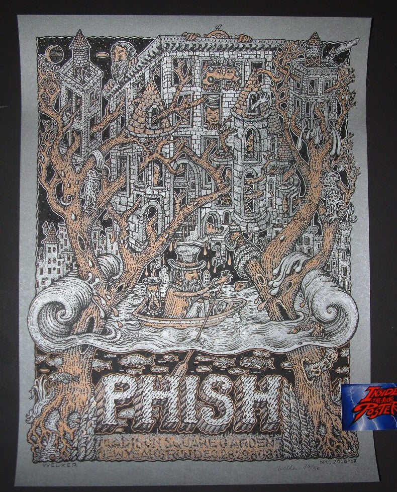 David Welker Phish Poster New York 2016 Artist Edition