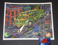 David Welker Sunset Bus Art Print 2017