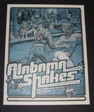 Dig My Chili Alabama Shakes Poster North Charleston Blue Variant 2013 Artist Edition S/N