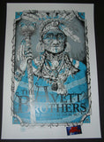 Dig My Chili Avett Brothers Poster St. Louis Blue Variant 2017 Artist Edition