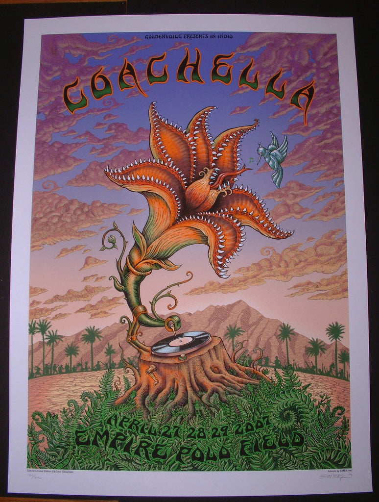 Emek Coachella Music Festival Poster Empire Polo Field 2007