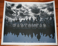 Emek Radiohead New York Concert Poster 2011 Signed Glow In the Dark