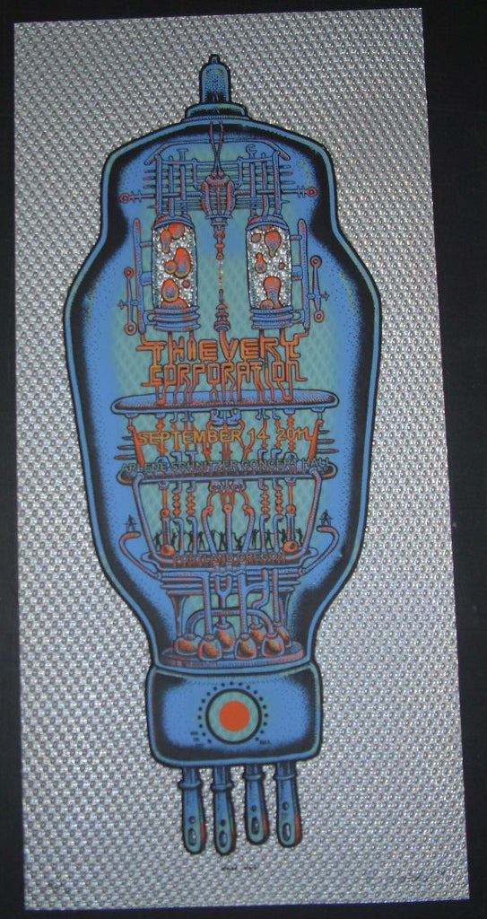 Emek Thievery Corporation Portland Concert Poster 2011 Glow in the Dark
