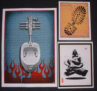 Emek Greedom Bright Eyes Toilet Handbills Prints Signed