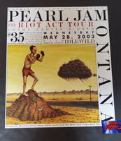 Edgar Smith Pearl Jam Missoula Poster Promo 2003