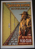Emek 3 Doors Down Nickleback Washington DC Poster 2001