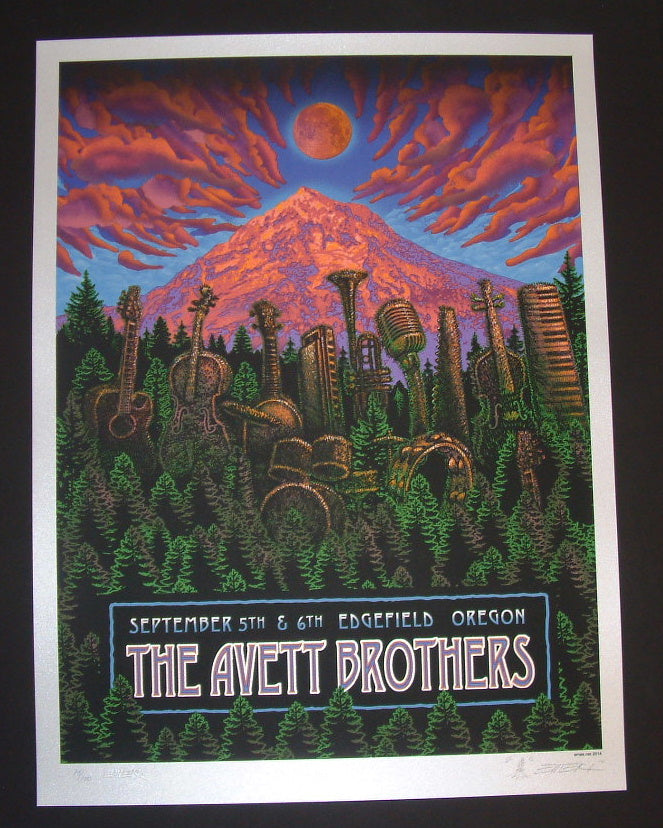 Emek Avett Brothers Poster Troutdale Edgefield 2014 Artist Edition