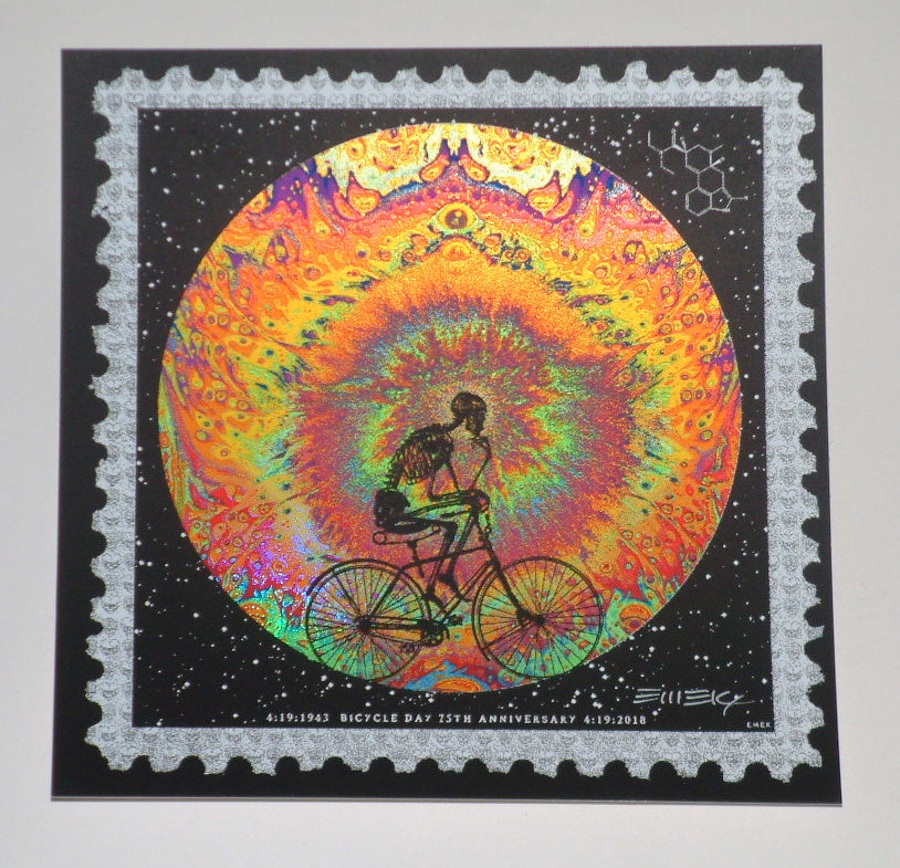 Emek Bicycle Day Art Print Mini 2018 75th Anniversary