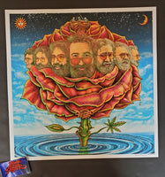 Emek Bicycle Day Jerry Garcia Rose Art Print 2020
