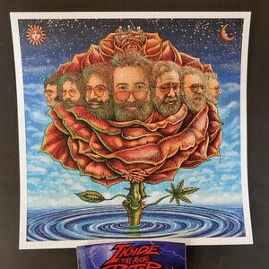 Emek Bicycle Day Jerry Garcia Blotter Art Print 2020
