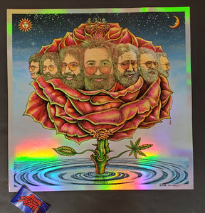Emek Bicycle Day Jerry Garcia Orange Blossom Foil Variant Art Print 2020