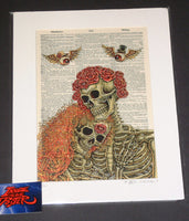 Emek Dead Dictionary Couple Art Print 2017