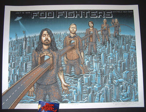 Emek Foo Fighters Poster New York 2015 Artist Edition