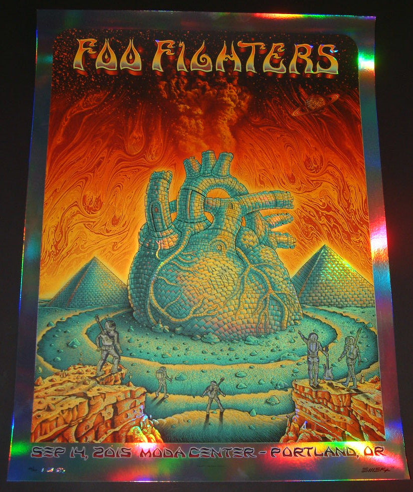 Emek Foo Fighters Poster Portland Foil Variant 2015