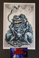 Emek Frog Eye Guy Handbill Art Print GID 2017