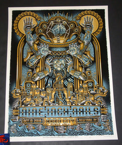 Emek Guy Burwell Nine Inch Nails Poster New York 2018 Artist Edition