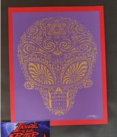 Emek Jane's Addiction Sasquatch Handbill Print Purple Variant 2009