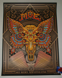 Emek moe. Red Rocks Morrison Poster VIP Copper Variant 2018