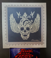 Emek Motorhead Stamp Handbill Print Glow in the Dark Variant 2011