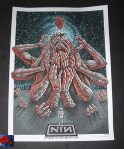 Emek Nine Inch Nails Poster Las Vegas 2018 Artist Edition