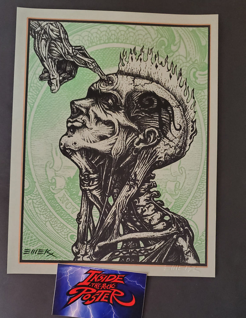 Emek Opyn Your Mynd Handbill Art Print Copper Green Variant 2012
