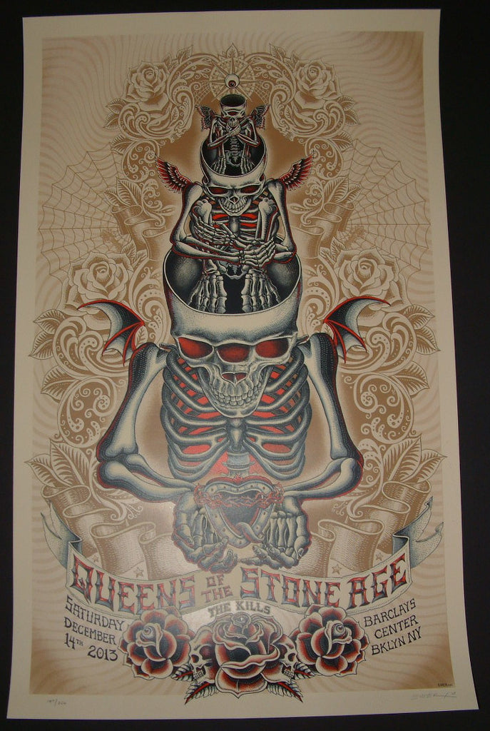 Emek Queens of the Stone Age Poster Brooklyn 2013 Artist Edition S/N