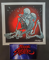 Emek Queens of the Stone Age Red Rocks GID Handbill Print Variant 2013