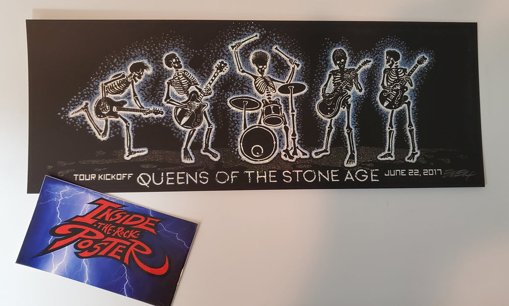 Emek Queens of the Stone Age Tour Handbill Print Foil Variant 2017