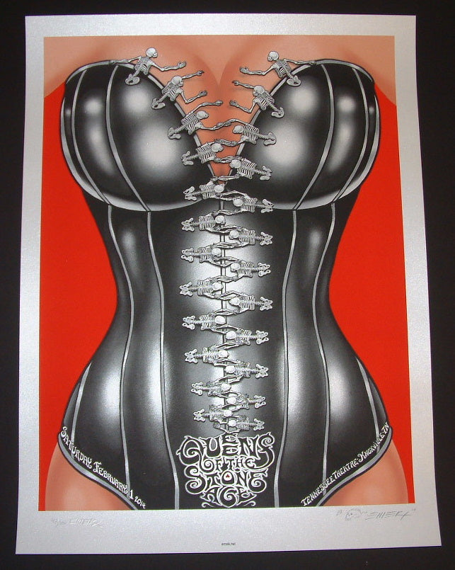 Emek Queens of the Stone Age Poster Knoxville 2014 Artist Edition