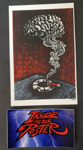 Emek Smokin Brain Handbill Print Red Black Variant 2006