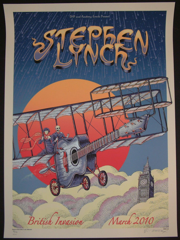 Emek Stephen Lynch British Invasion Poster Bone Variant S/N