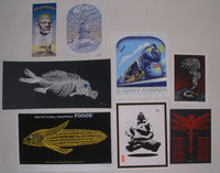 Emek Willie Nelson Wilco Fish Groove Armada 8 Handbills Prints Set Signed