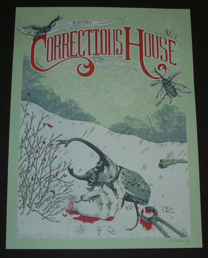 Erica Williams Corrections House Poster Houston 2013 Artist Edition S/N