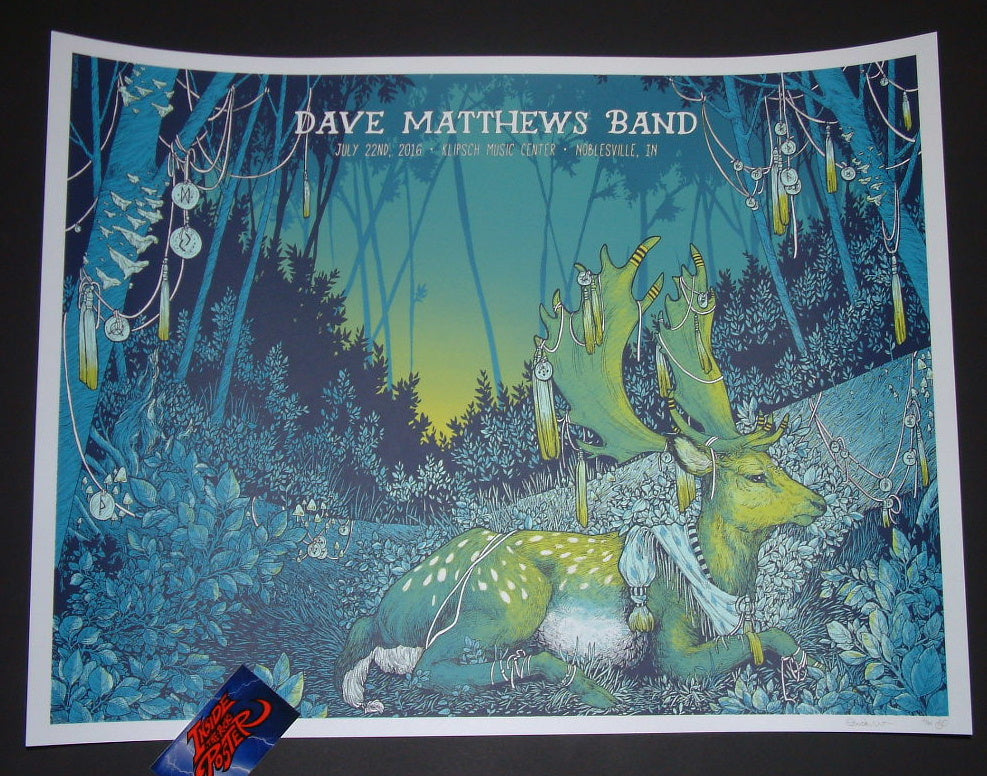 Erica Williams Dave Matthews Band Poster Noblesville 2016 Artist Edition