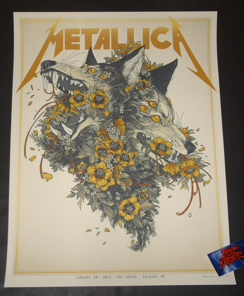 Erica Williams Metallica Raleigh Poster VIP Artist Edition 2019