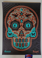 Ernesto Yerena Yaqui Day of the Dead Art Print Copper Turquoise Variant 2020